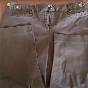 Twill cropped pants